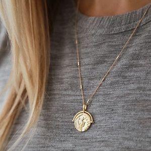 Greek Coin Necklace | 14k Gold Vermeil